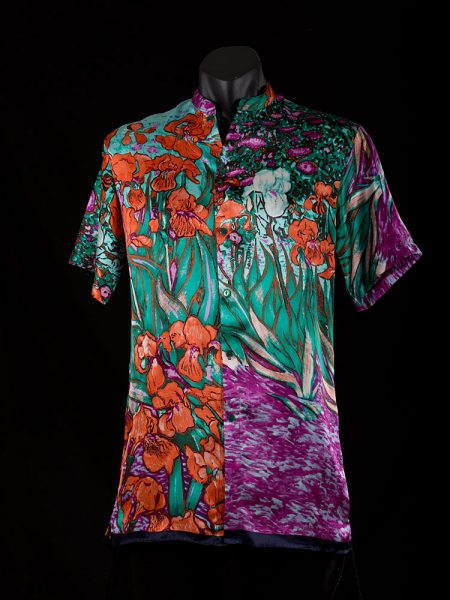 mens-shirt-irises-red-front