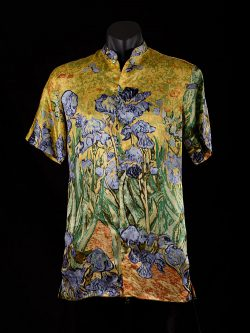 mens-shirt-irises-yellow-front